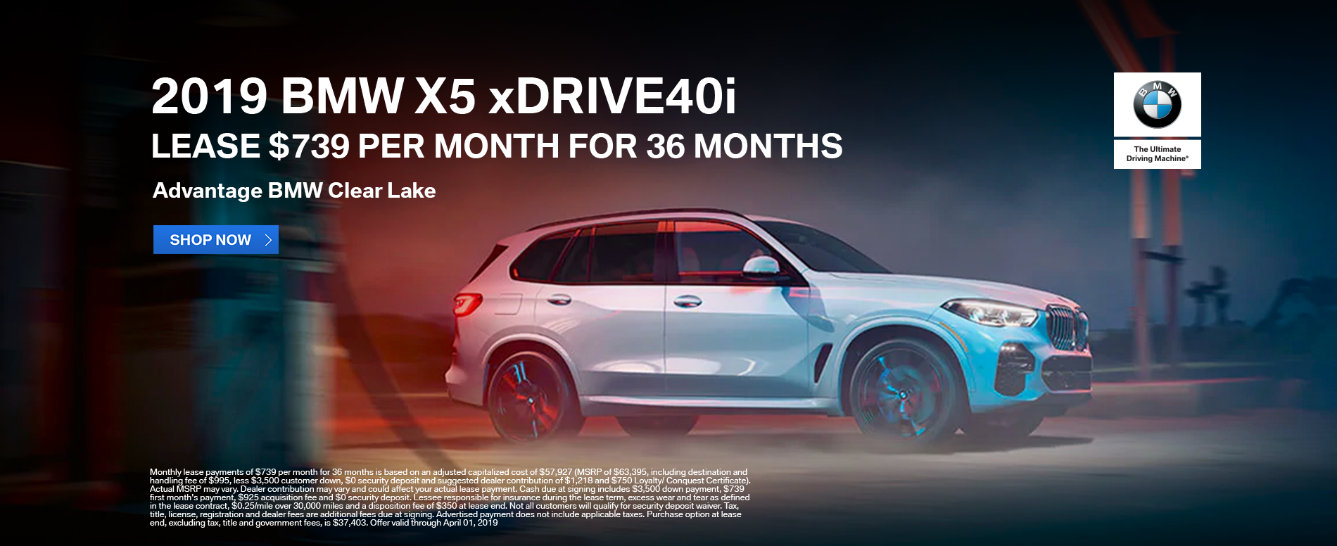 lease-2019-bmw-x5-xdrive40i-for-739-per-month-clear-lake