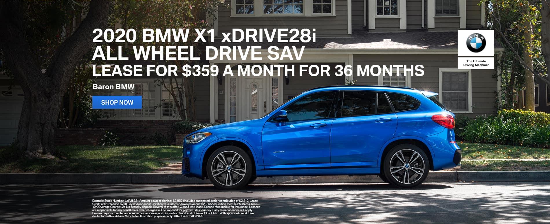 2020 BMW X1 xDrive28i lease Kansas City