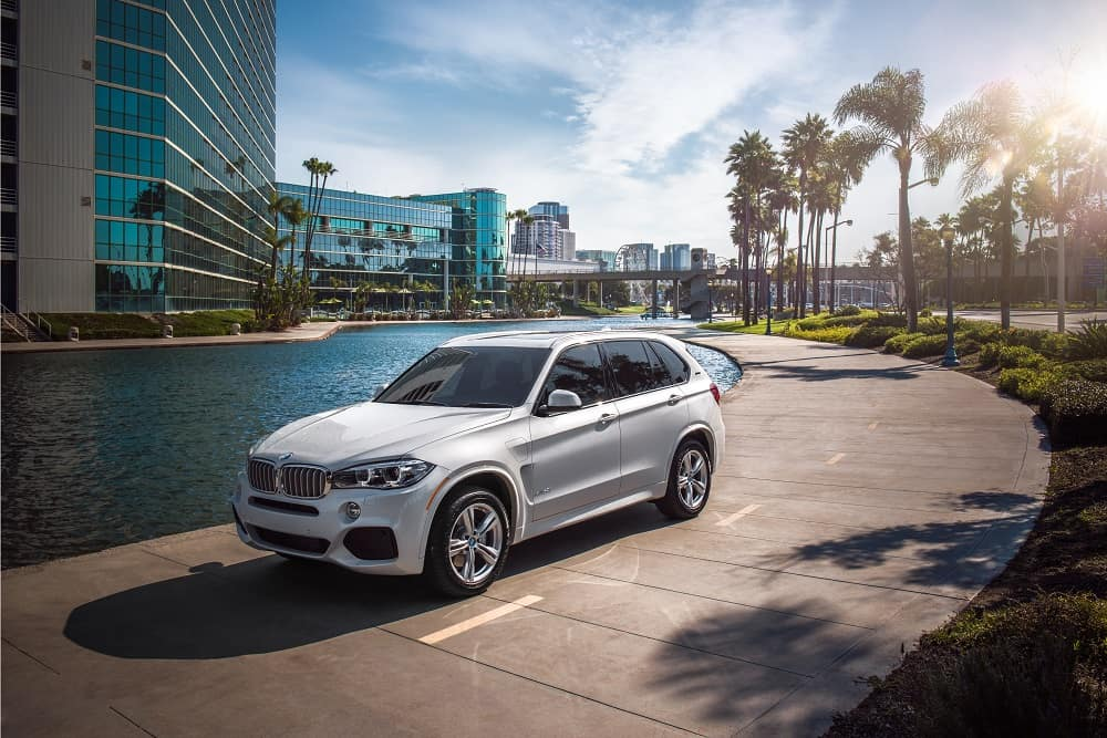 White 2019 BMW X5 side view