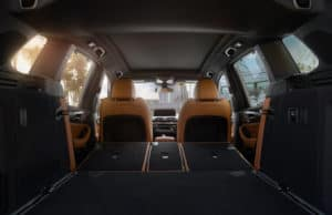 BMW X3 tan interior cargo