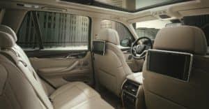 BMW X5 Interior Cab Space