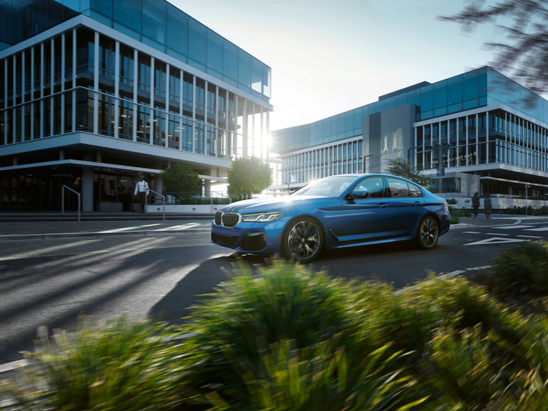 2021 BMW 5 Series in Blue