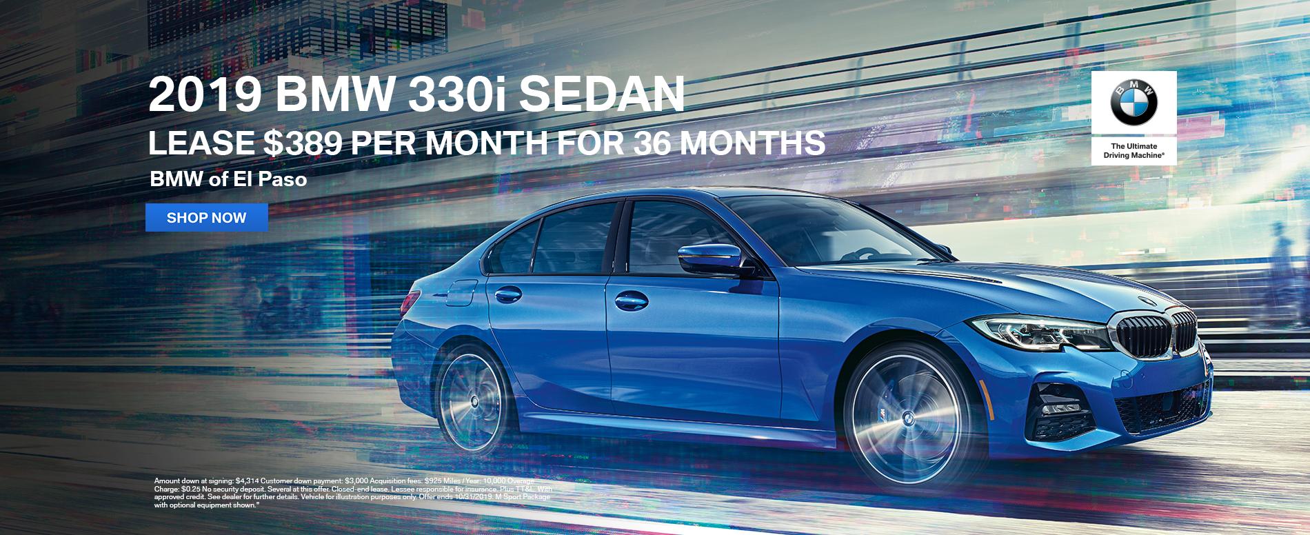 2019_BMW_El_Paso_330i_Sedan_Lease_Offer