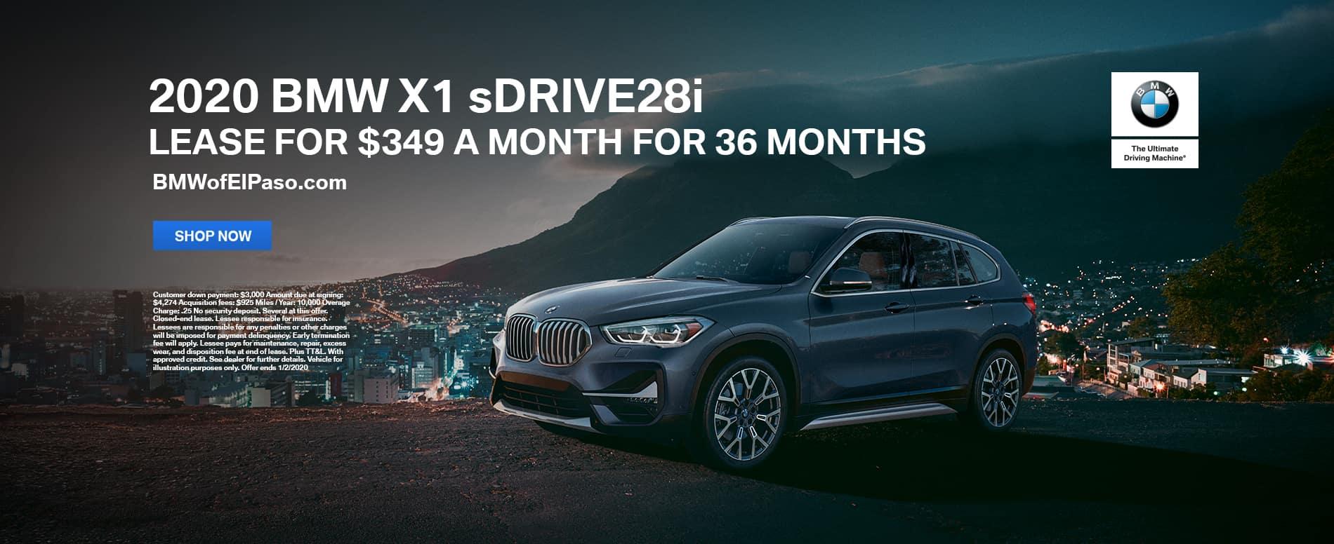2020 X1 sDrive28i Lease El Paso TX