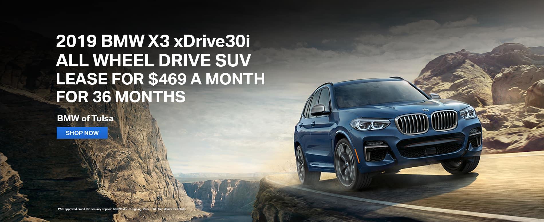 lease-2019-bmw-x3-xdrive30i-awd-suv-tulsa