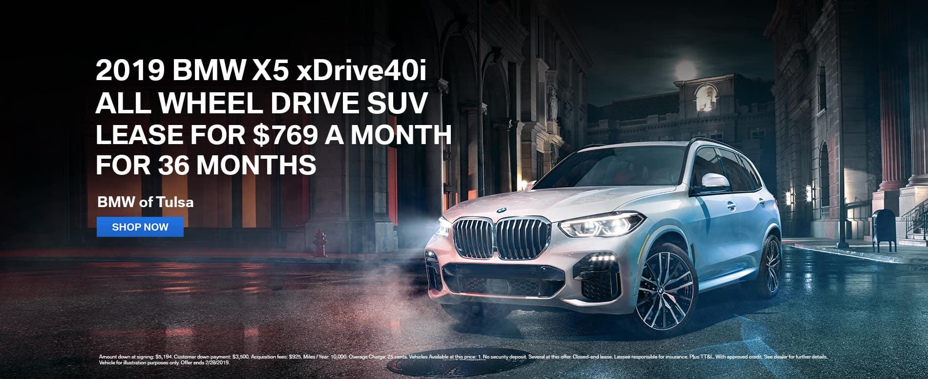 lease-2019-bmw-x5-xdrive40i-awd-suv-tulsa