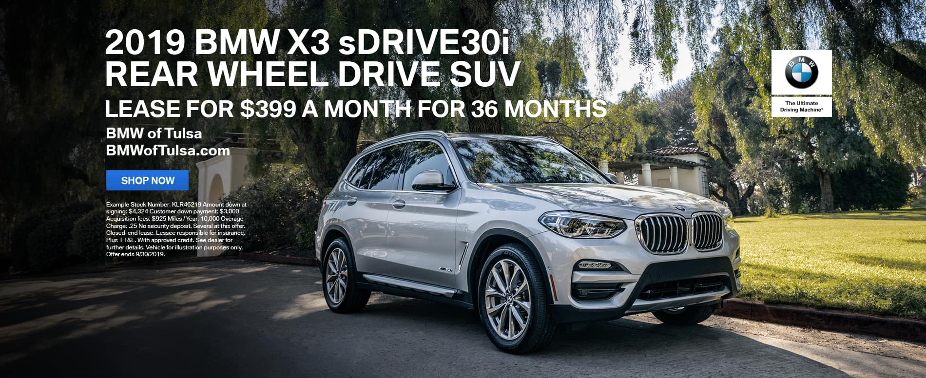 2019_BMW_X3_sDRIVE30i_Rear_Wheel_Drive_SUV_Lease_Offer