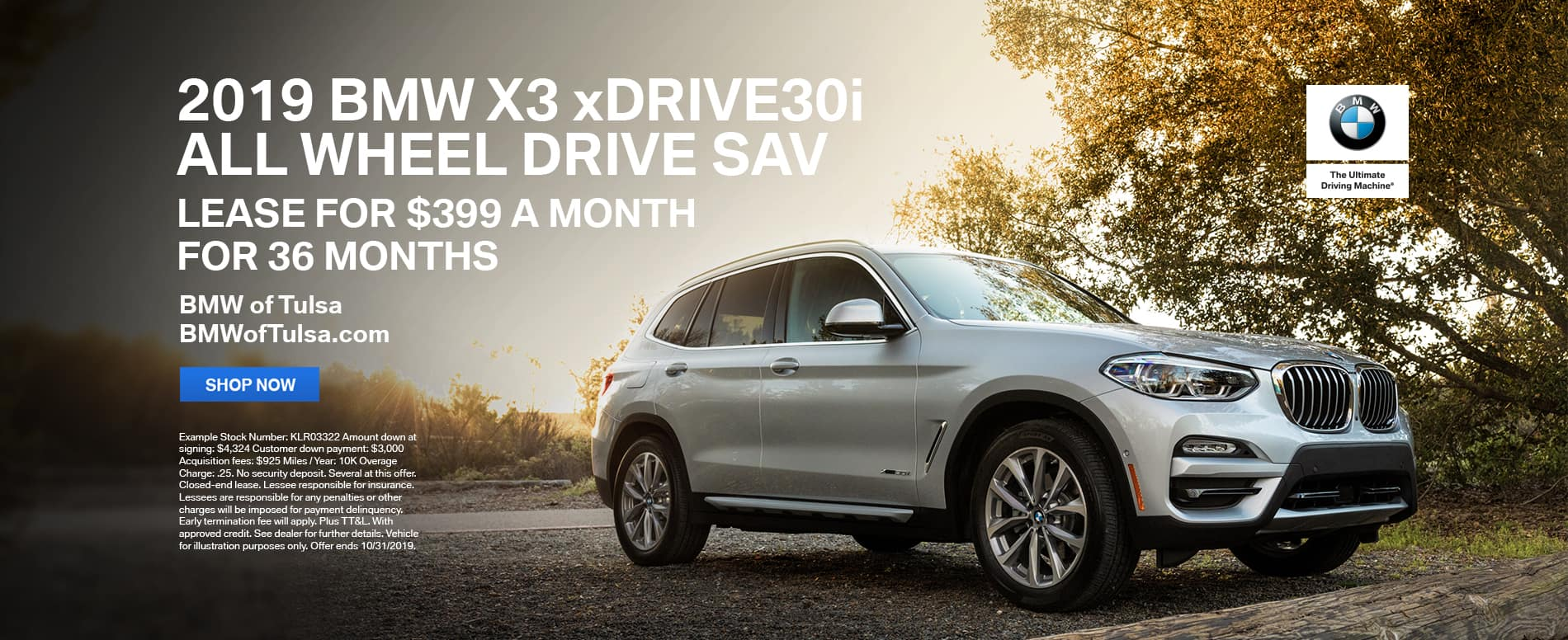 2019_BMW_Tulsa_X3_Lease_Offer
