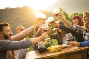 Group at Winery