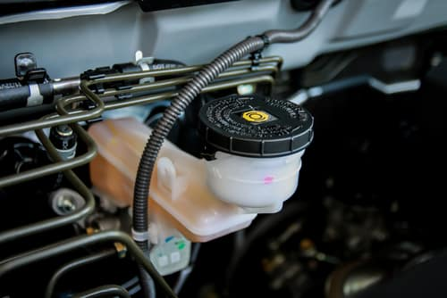 brake fluid container