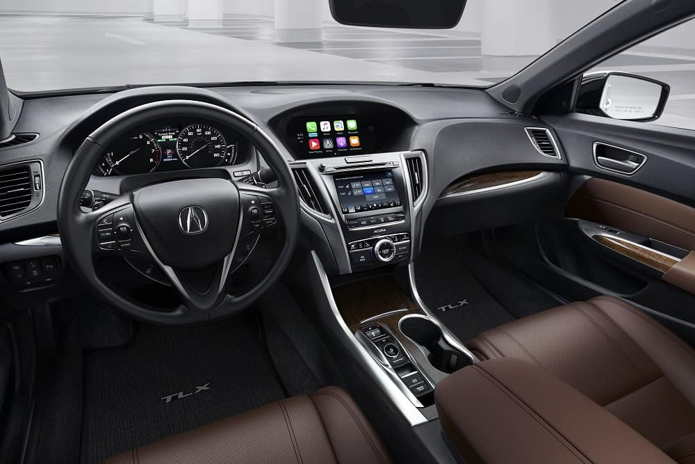 2019 Acura TLX Interior Dashboard Tan Leather