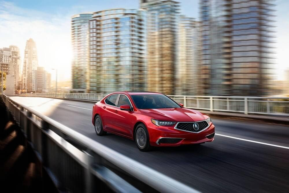 2020 TLX in Red City Driving