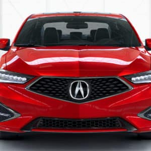 2019 Acura ILX A-Spec Front View in Performance Red Pearl