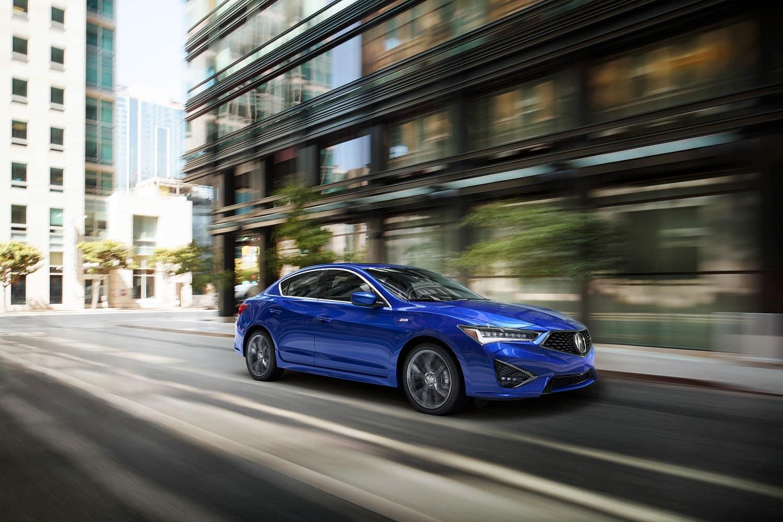 2020 Acura ILX in Apex Blue Pearl