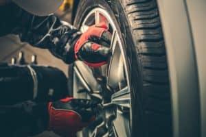 Tire Rotation on Car