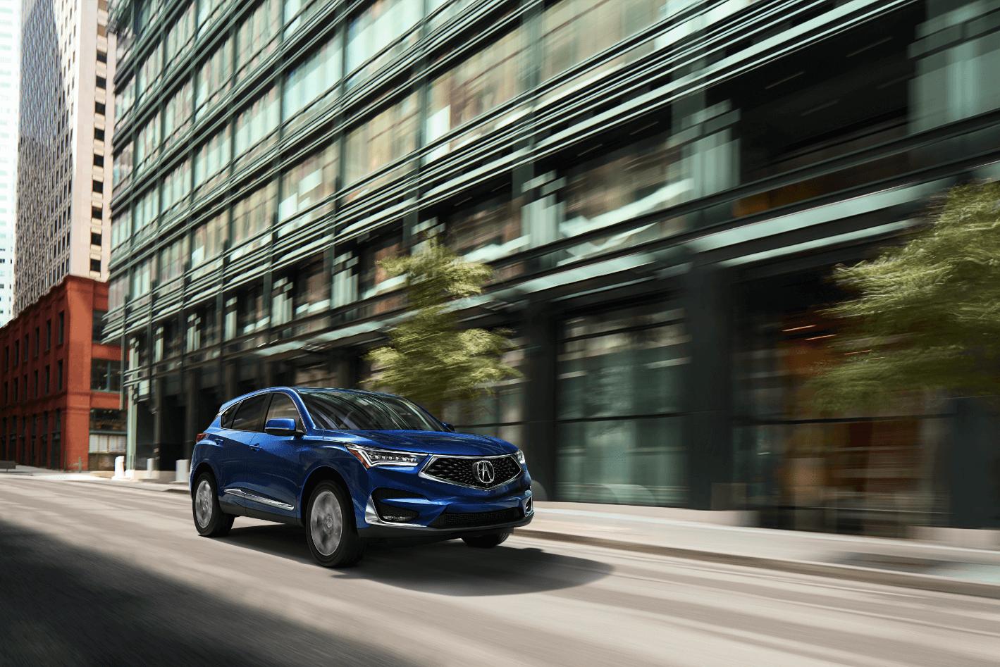 2020 Acura RDX Advance in Fathom Blue Pearl