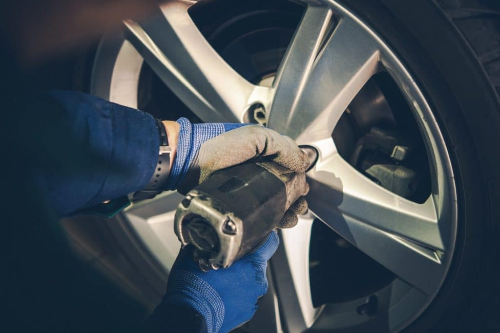 Removing Lug nuts from Tire