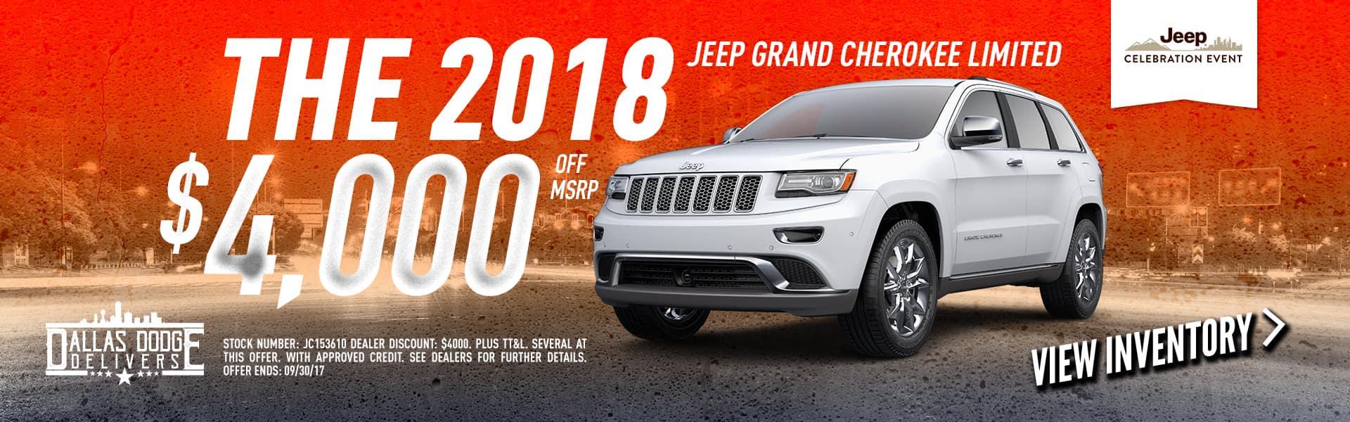2018 Jeep Cherokee September