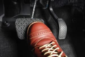 foot on brake