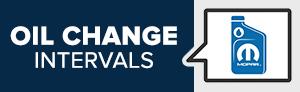 Oil Change Intervals