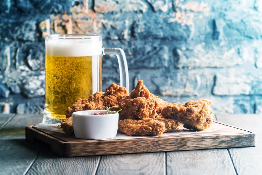 Beer and Fried Chicken