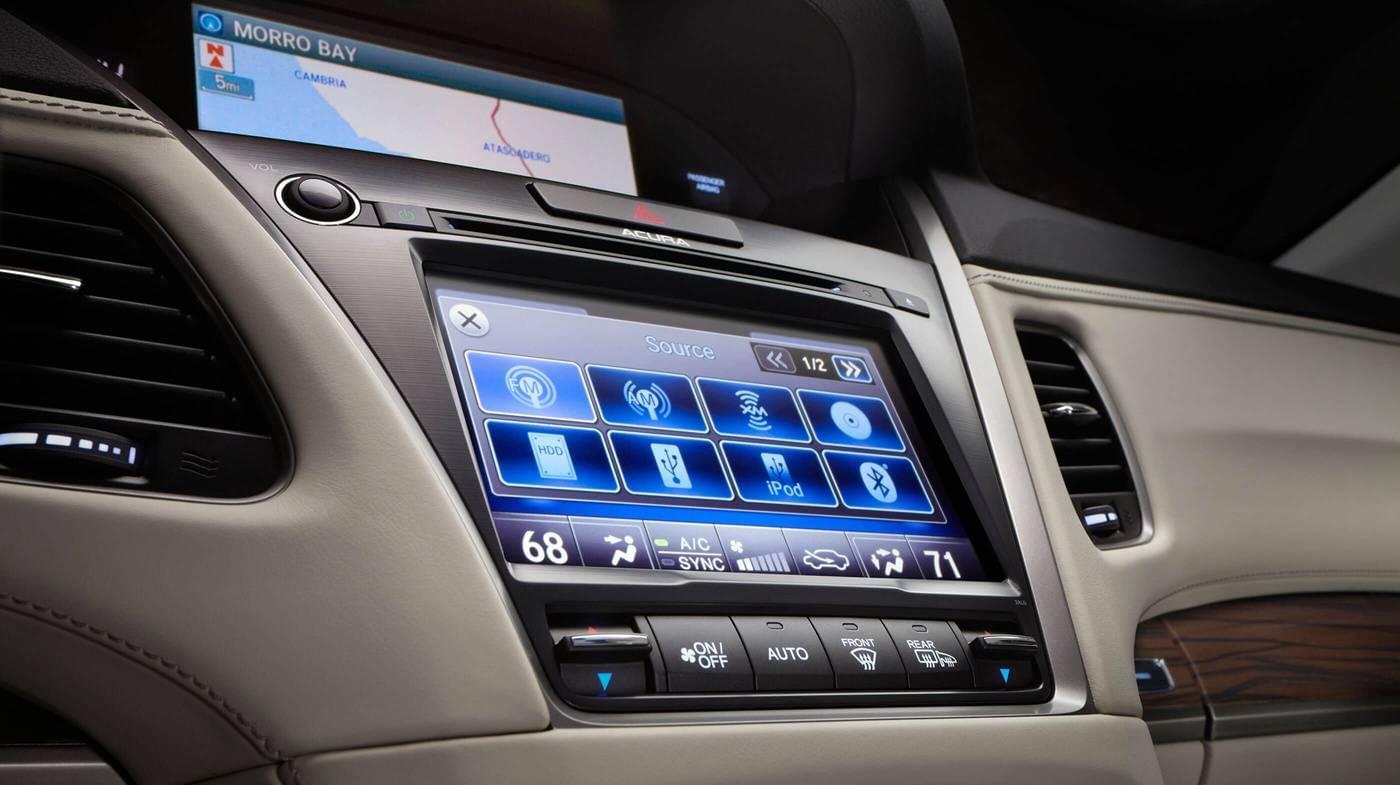 2017 Acura RLX dashboard