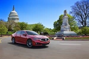 2018 Acura TLX in Red