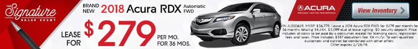 2018 Acura RDX Offer