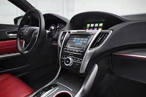 2019 Acura TLX black interior