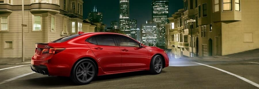 Red 2019 Acura TLX