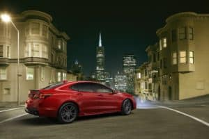 Acura TLX night red