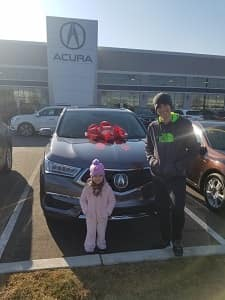 New Car for Danielle at Elite Acura