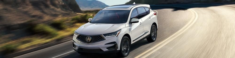 White Acura RDX at Acura Dealer Moorestown NJ