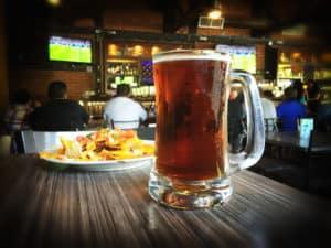 Beer at Sports Bar