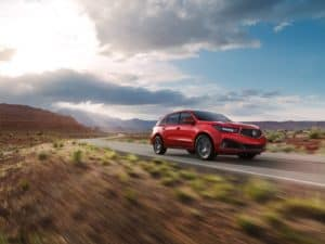 Acura MDX in Red