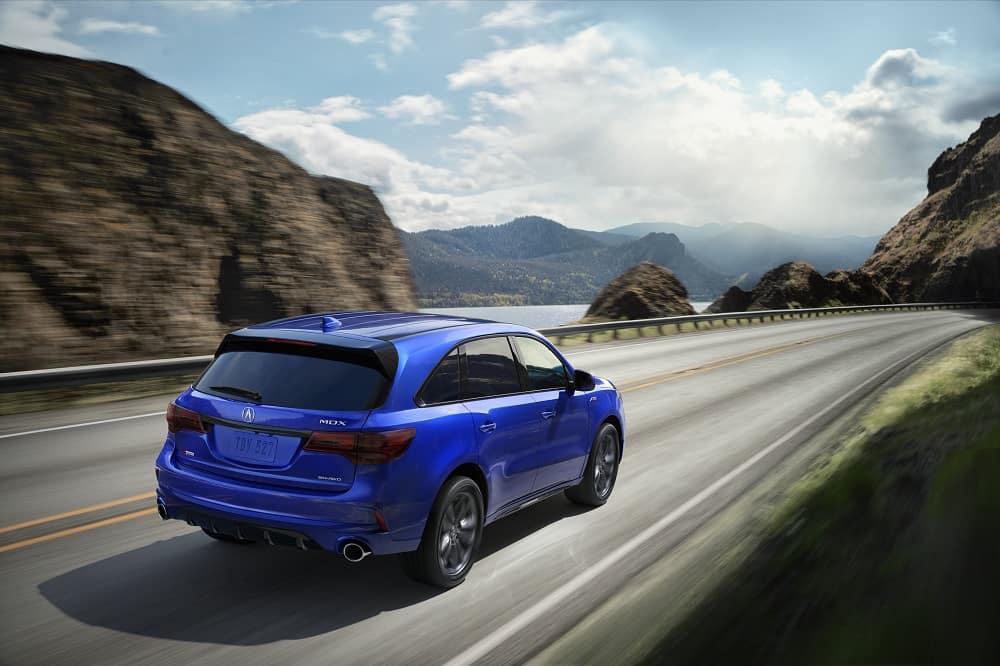 2020 Acura MDX A-Spec in Apex Blue Pearl