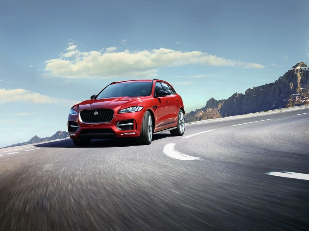 2018 Jaguar F-Pace Red