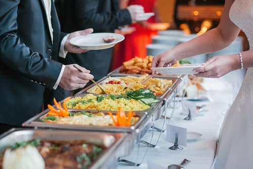 caterer serving table