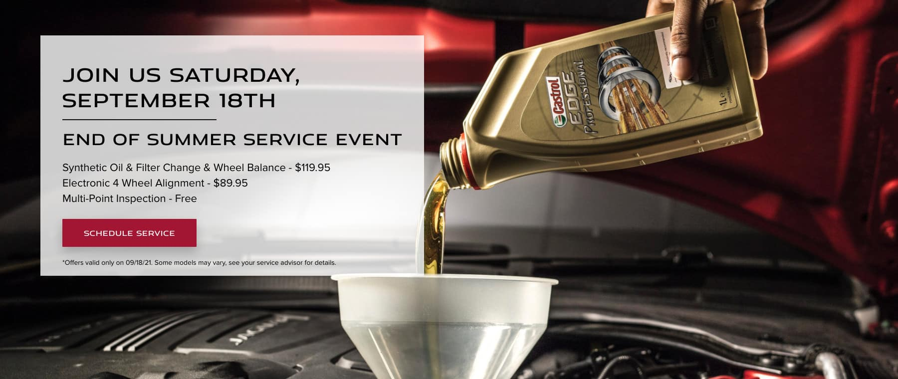 End of Summer Service Event