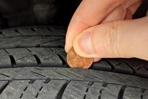Checking Tire Tread with a Penny