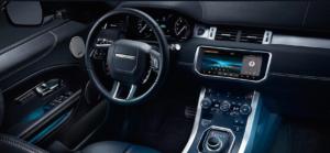 2019 Range Rover Evoque black interior