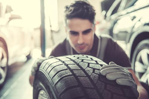 inspecting tire