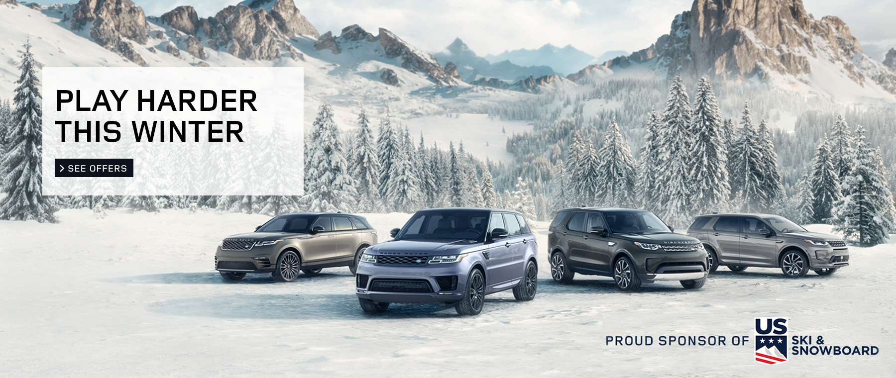 2020 Land Rover Play Harder This Winter Winter Campaign click to view special offers