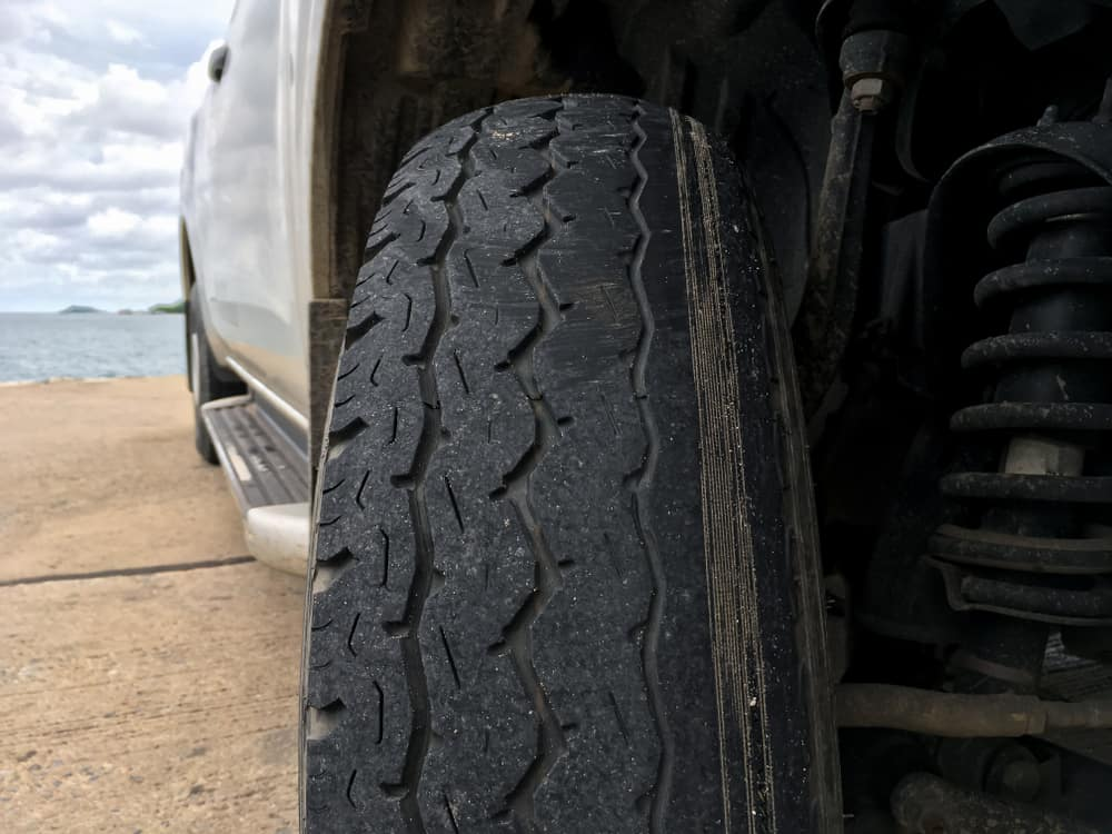 Uneven Wear on Vehicle Tire