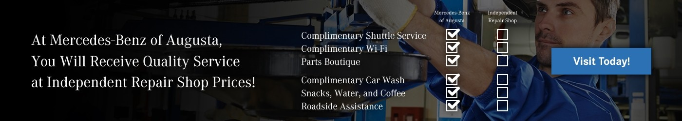 Service Amenities at Mercedes-Benz of Augusta, your local Mercedes-Benz Dealer in Augusta, GA