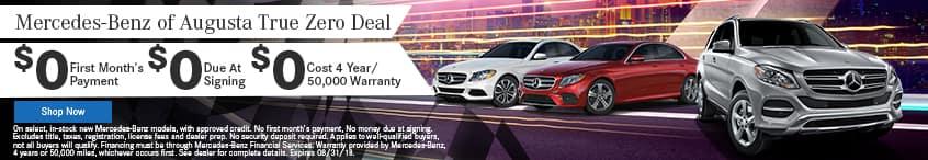 Mercedes-Benz of Augusta True Zero Deal