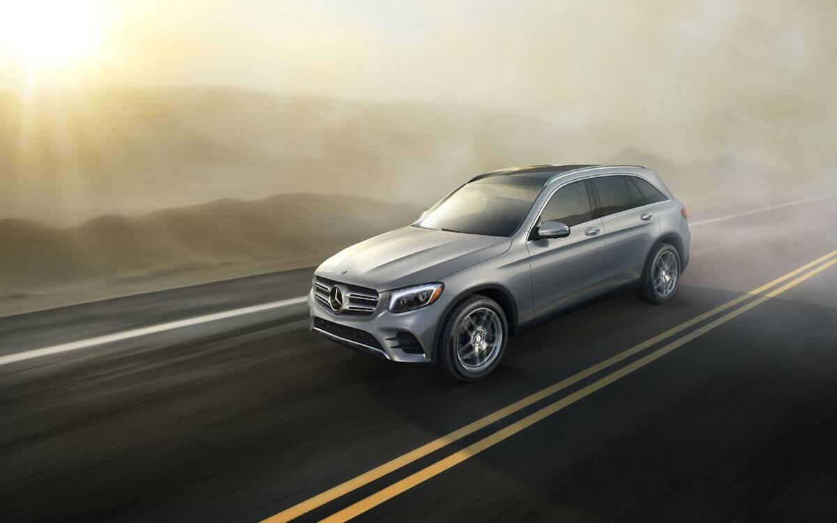 2017 GLC driving through the mist