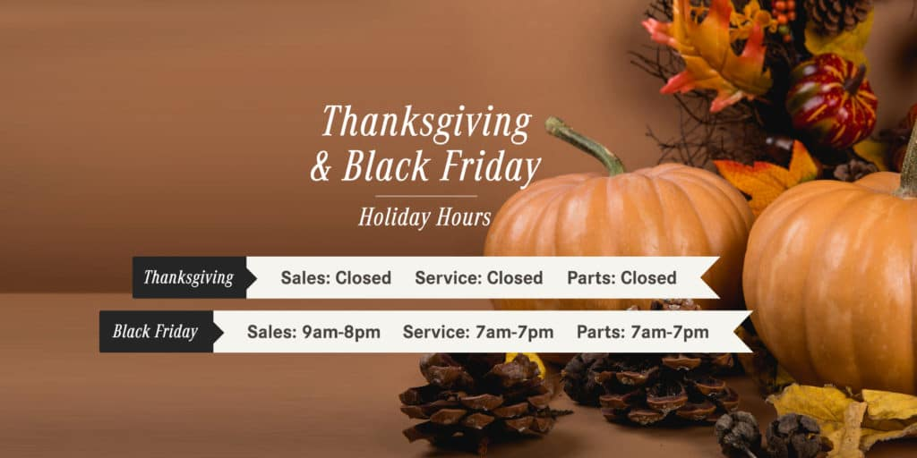 Black Friday Holliday Hours