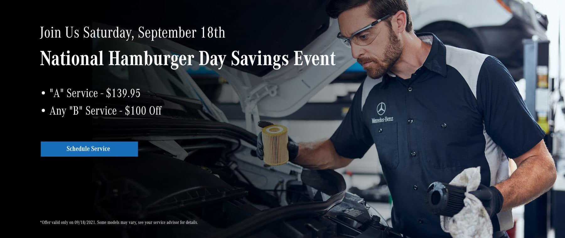 National Hamburger Day Savings Event