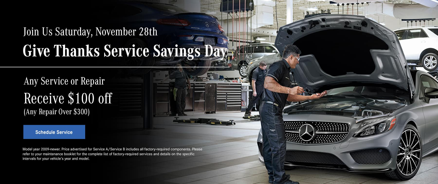 Give Thanks Service Savings Day